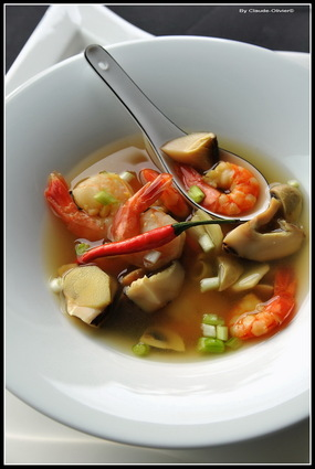 Recette de tom yam ou soupe de crevette au galanga