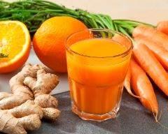 Recette jus de carotte orange et gingembre