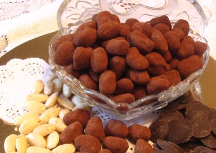 Recette amandes au chocolat