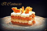 Dessert façon mille-feuille au caramel aux amandes et mascarpone ...