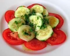 Recette salade de concombres et tomates