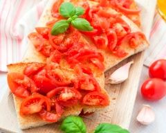 Recette tartines aux tomates cerise