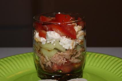 Recette de tartare de tomates, concombre et thon