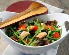 Recette salade croquante de haricots verts au poulet
