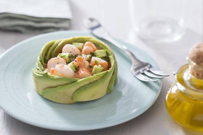 Recette de salade d'avocat et crevettes facile et rapide