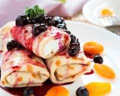 Recette blintz, crêpes fourées aux myrtilles