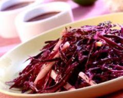 Recette salade au chou, pommes et raisins secs