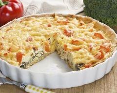 Recette quiche légère à la mozzarella et ratatouille