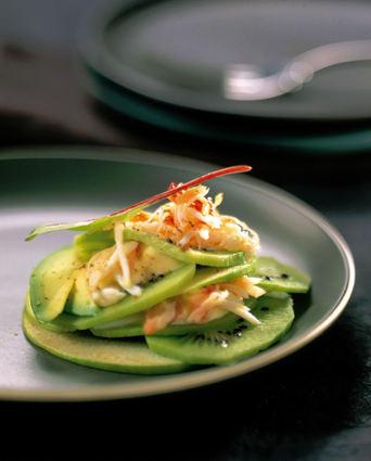 Recette de salade acidulée de kiwi au crabe
