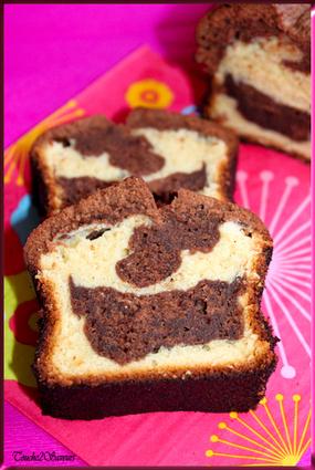 Recette de marbré au chocolat noir et blanc