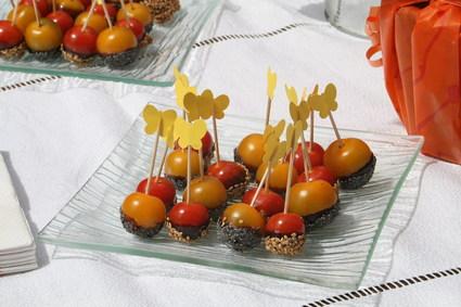Recette de tomates cerises caramélisées aux graines