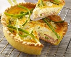Recette quiche au jambon, fromage frais et asperges