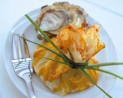 Recette aumonières d'huîtres chaudes