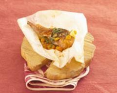 Recette cuisses de lapin en papillotes à la citronnelle et au piment ...