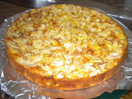 Recette de gâteau aux pommes et amandes effilées