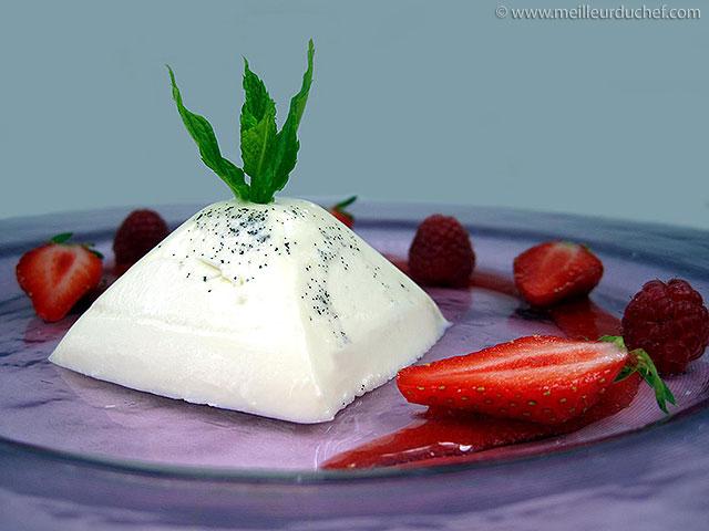 Pana cotta au coulis de fraises  notre recette avec photos ...