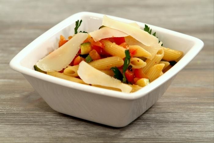 Salade de penne aux legumes confits recette - Legumes faciles a cuisiner ...