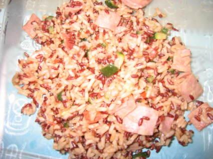 Risotto camarguais aux courgettes et chorizo