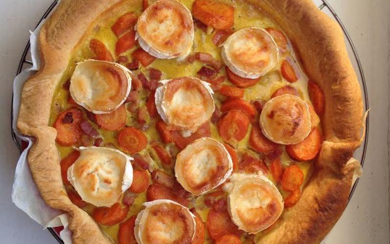 Recette tarte aux carottes, lardons et chèvre économique et simple ...