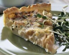 Recette tarte aux poires et au gorgonzola
