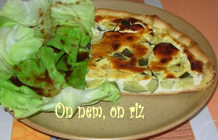 Recette tarte aux courgettes et au chèvre (tarte salée)