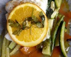 Recette cabillaud aux petits légumes et à l'orange