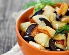 Recette poêlée de pommes de terre aux olives