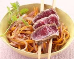 Recette tataki de boeuf charolais du bourbonnais igp, salade d ...