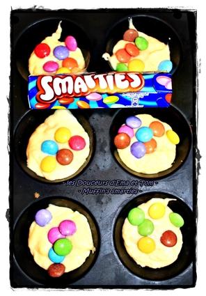 Recette de muffins aux smarties