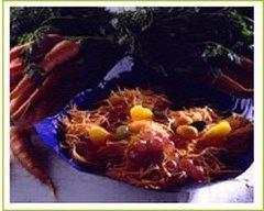 Recette salade de carottes à l'orange et aux raisins