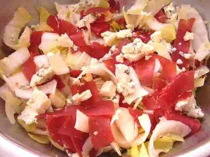 Recette de salade montagnarde au bleu