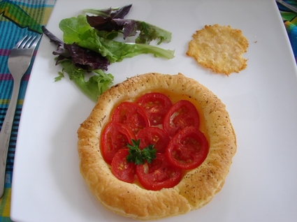 Recette tarte fine à la tomate (feuilleté, brick)