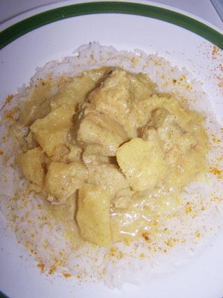 Recette de curry de porc à l'ananas et lait de coco