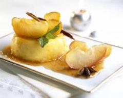 Recette flan aux pommes confites