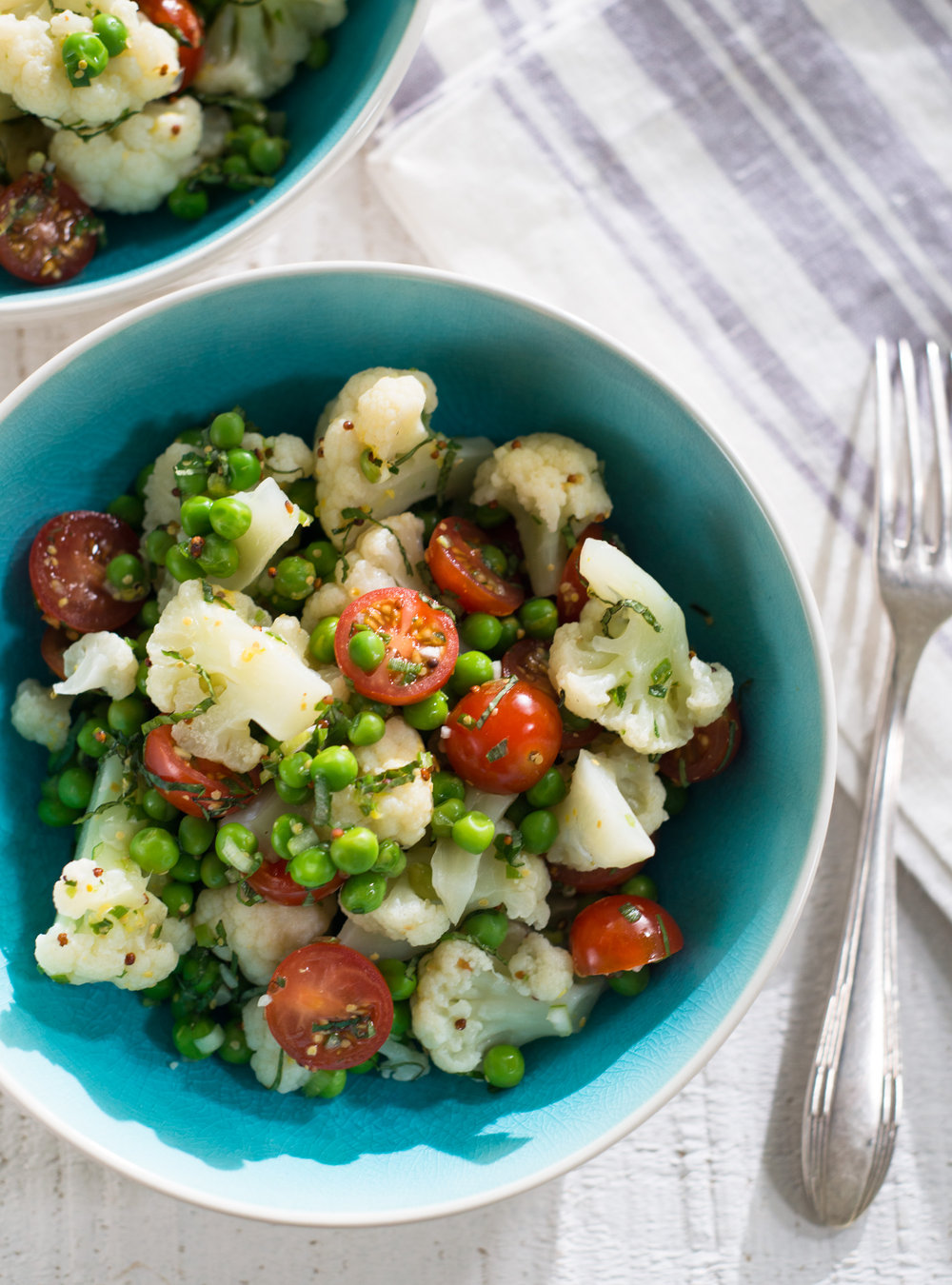 Salade de chou-fleur et de petits pois | ricardo