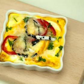 Frittata aux légumes et au fromage de chèvre pour 6 personnes ...