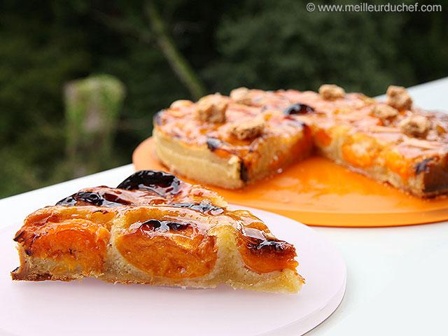 Tarte abricots aux amandes  la recette illustrée  meilleurduchef.com