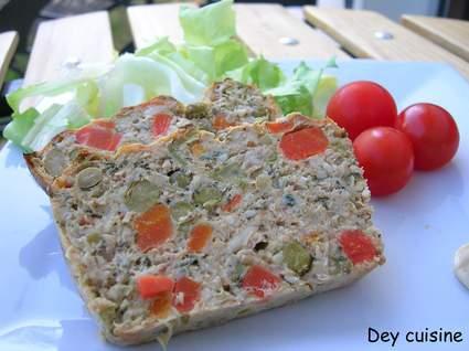 Recette de terrine de thon aux légumes