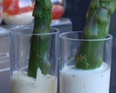 Recette verrines d'asperges à la crème mousseline