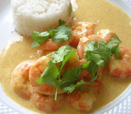 Recette de curry indien de crevettes