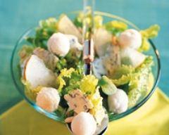 Recette salade poire-roquefort