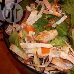 Recette salade chinoise au poulet et aux wontons – toutes les ...