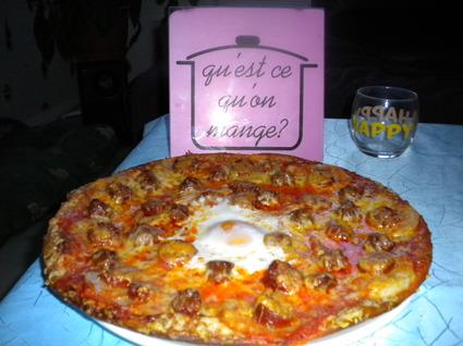 Recette de pizza volcano