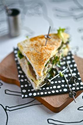 Recette de club sandwich au camembert de normandie