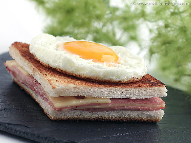 Croque-madame  la recette avec photos  meilleurduchef.com