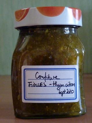 Recette de confiture de figues au thym-citron