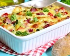 Recette tartiflette aux pommes de terre et aux saucisses