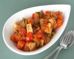 Recette ratatouille au tofu pauvre en sel