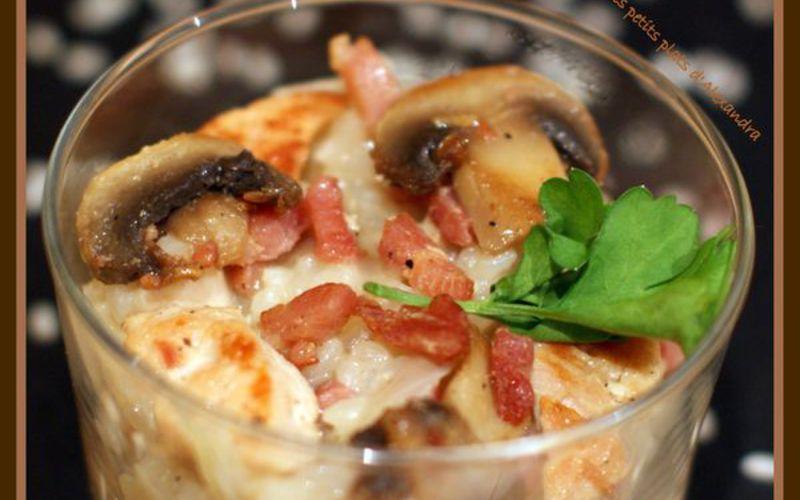 Recette risotto aux lardons et champignons > cuisine étudiant