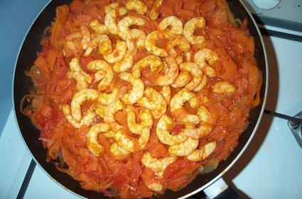 Recette de crevettes et carottes au curry